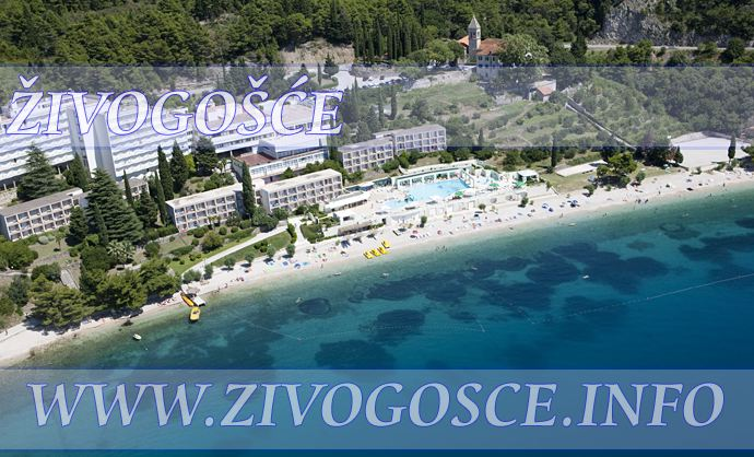 Hotel in Zivogosce - viewed from air